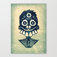 calavera Canvas Prints featuring Calavera by Eric Peterson