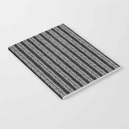 Mud cloth - Black and White Arrowheads Notebook