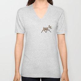 Geometric Reindeer / Caribou Unisex V-Neck