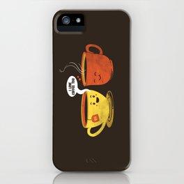 I Love Coffee Too iPhone Case