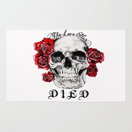 The Love Has Died Rug