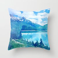alaska Throw Pillows featuring Alaska by Acacia Alaska