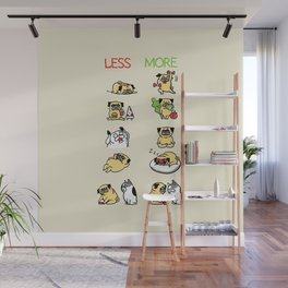 New Years Resolution with The Pug Wall Mural