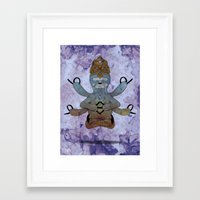 hindu Framed Art Prints featuring Hindu Sloth by mmyes