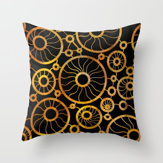 Sunflower Field Pattern Throw Pillow by Graphic Design Society6