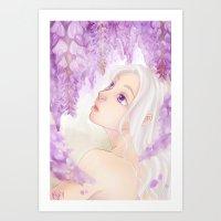 Violet Days Art Print