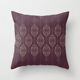 Vintage Burgundy vertical Throw Pillow