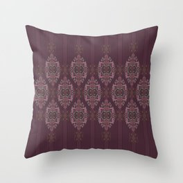 Vintage Burgundy vertical Throw Pillow