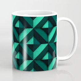 Concrete wall - Emerald green Coffee Mug