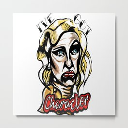 Hatchet-Face Metal Print