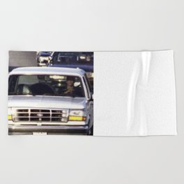 OJ Simpson Car Chase Beach Towel