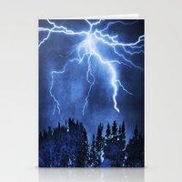 lightning Stationery Cards featuring Lightning by Svetlana Sewell
