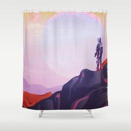 kepler - 1647 B Shower Curtain