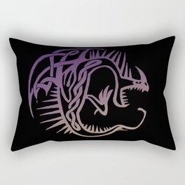 Deadly Nadder Purple and Gold Rectangular Pillow
