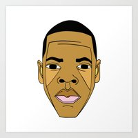 jay z Art Prints featuring Jay-Z by ΛDX7