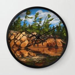 Rocky Pines Wall Clock
