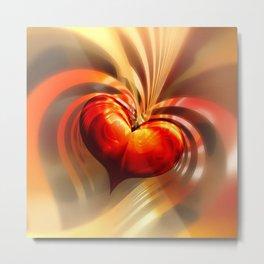Herz der Liebe Metal Print
