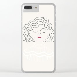Sophie in white dress Clear iPhone Case