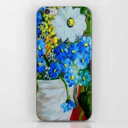 Flowers in a White Vase iPhone Skin