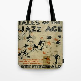 Tales of the Jazz Age vintage book cover - Fitzgerald Tote Bag
