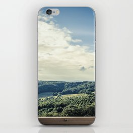 Panoramic view of the rolling hills of Chianti through a window in early morning iPhone Skin