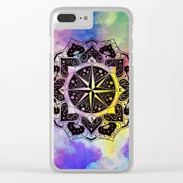 """""""Rose of the Winds""""  WATERCOLOR MANDALA (HAND PAINTED) BY ILSE QUEZADA Clear iPhone Case"""