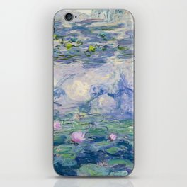 "Claude Monet ""Water Lilies(Nymphéas)"" (9) 1916–19.jpg iPhone Skin"