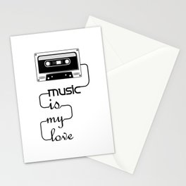 Music is My Love Stationery Cards