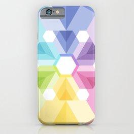 Fig. 056 Geometric Colorful Snowflake Kaleidoscope Rainbow Colors iPhone Case