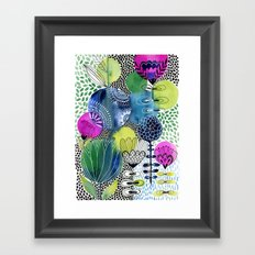 Indigo Blooms Framed Art Print