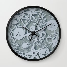 SeaStar Paper Cutting Wall Clock