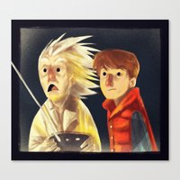 back to the future Canvas Prints featuring Back to the future by Peerro