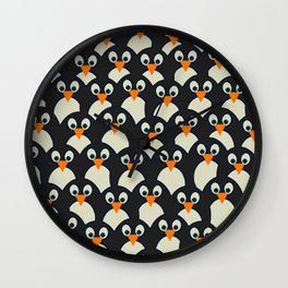 Penguin Pile-Up Wall Clock