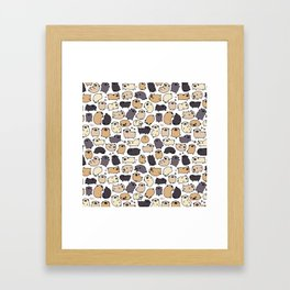 Pug Life Doodle Framed Art Print