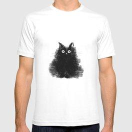 Duster - Black Cat Drawing T-shirt