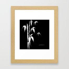 White bamboo Framed Art Print