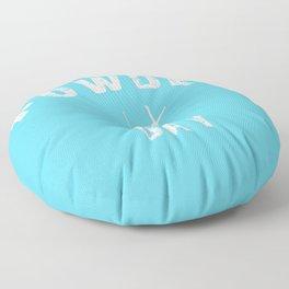 Powder Day Light Blue Floor Pillow