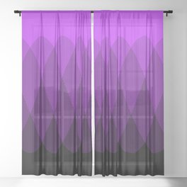 Purple to Black Ombre Signal Sheer Curtain