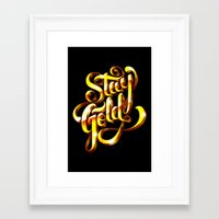 stay gold Framed Art Prints featuring Stay Gold by Roberlan Borges