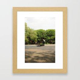 Skateboarding in Tompkins Square Park Framed Art Print