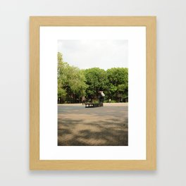 Skateboarding in Tompkins Square Park Framed Art Print