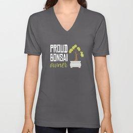 Proud Bonsai Owner Tree Unisex V-Neck