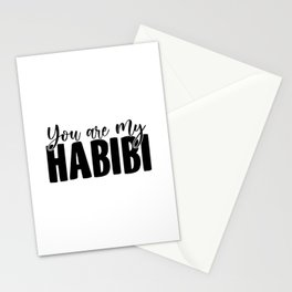 You Are My Habibi | Arabic Yallah Habibo Gift Stationery Cards
