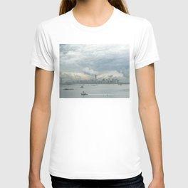 Cloudy New York Harbor T-shirt