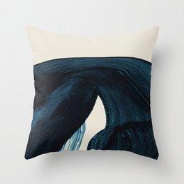 Lux Blue Throw Pillow