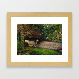Ophelia from Hamlet Oil Painting by Sir John Everett Millais Framed Art Print