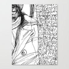 Line and Words - 2 Canvas Print