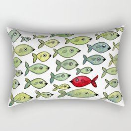 Swim Upstream Rectangular Pillow