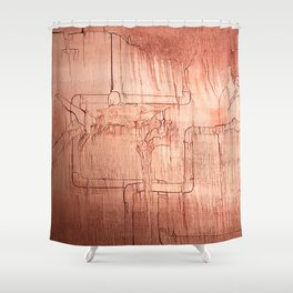 Conduit Shower Curtain