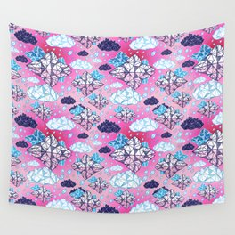 Beautiful geometric clouds with the rain coming Wall Tapestry